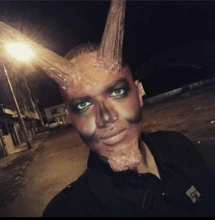 Maquillaje de halloween, maquillaje para adultos, diablo