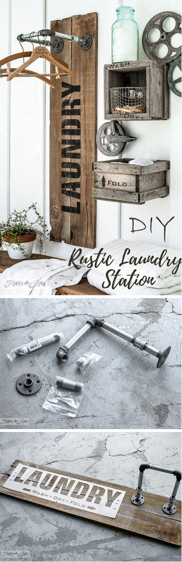 Check out this easy idea on how to make a #DIY #rustic laundry station on a #budget #homedecor #project @istandarddesign