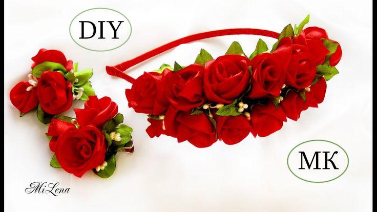 ОБОДОК С РОЗАМИ, МК /  DIY Roses Headband