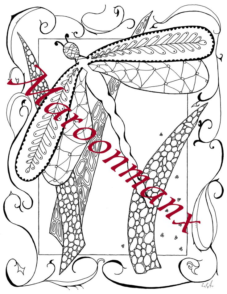 dragonfly with reeds coloring page downloadable printable gift wall art by maroonmanx on etsy