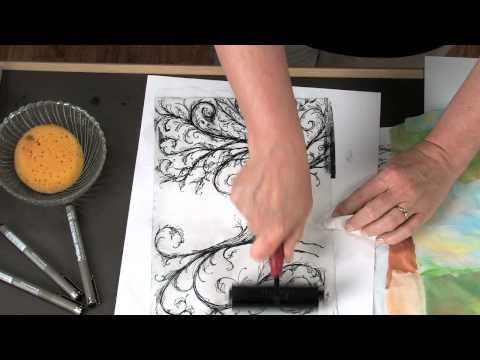 """Incorporating printing and painting and collage, students will make a piece that is basically a printmaking """"sandwich"""". Utilizing lithograph, and monoprint techniques. Watch this video to see just how this fascinating process works. For a pdf version of this lesson along with a materials list and the national standards for visual arts, follow th..."""