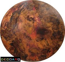 """30"""" ROUND COPPER TABLE TOP RARE VERY STAINED FINISH HAND HAMMERED FREE SHIPPING!"""