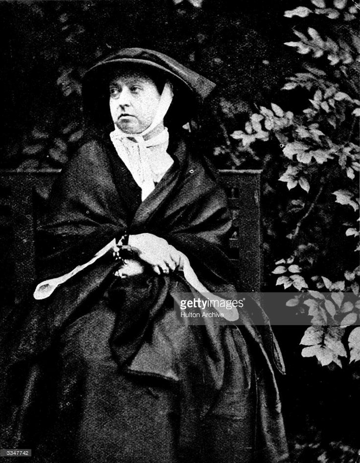 Queen Victoria (1819 - 1901) during her period of mourning after the death of her husband Albert, Prince of Saxe-Coburg-Gotha.