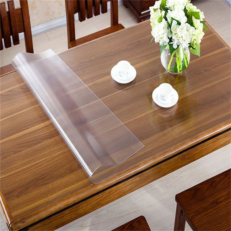 Rectangle Oilproof Table Cover Clear Matte PVC Tablecloth Desk Protector Cloth Placemat 1.5mm Thickness Table Decorations #Affiliate
