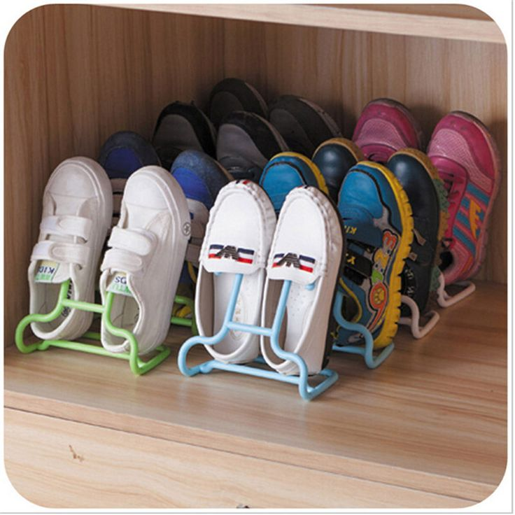 Plastic Shoe Storage Box 2 in 1 Function 2 Pieces/Lot Modern Shoe Hanger to Organize Children Standing Hang Shoe Hallway Rack