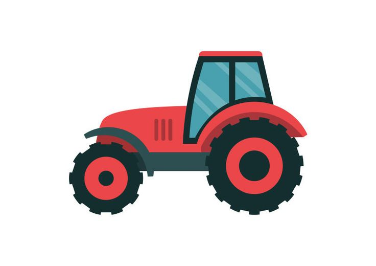 Tractor Flat Vector
