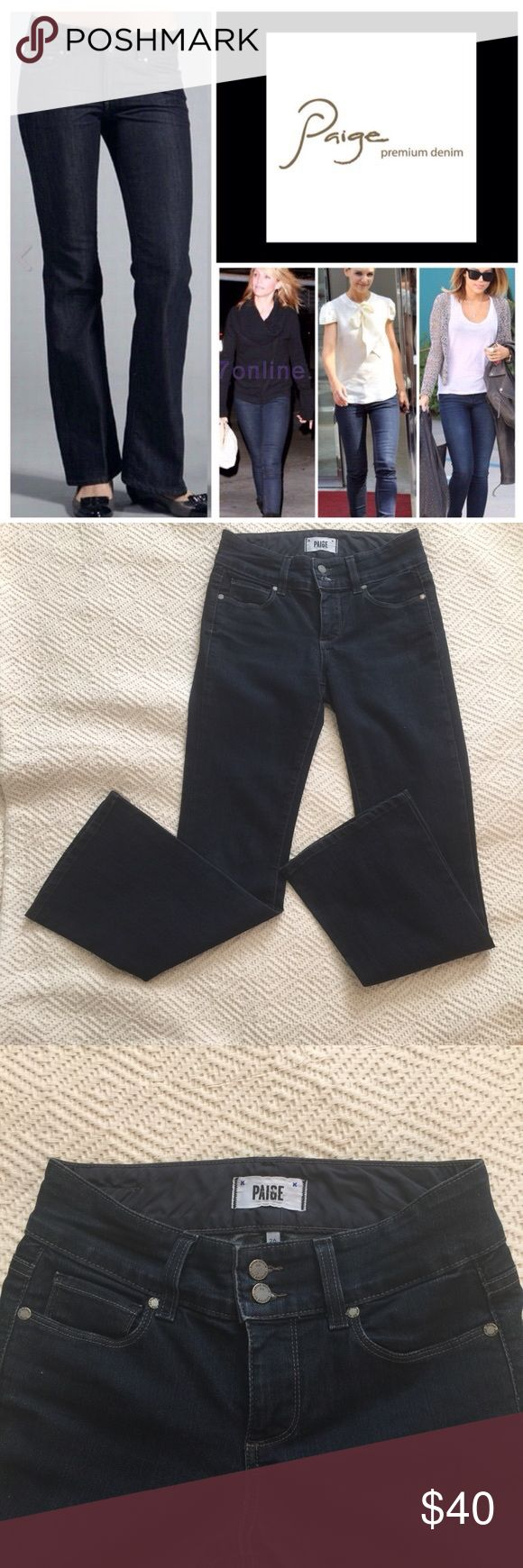 "Paige Premium Denim Jeans Hidden Hills Petite 26 Amazing jeans by Paige! Gently used condition. Size 26 with 29"" inseam. Zip fly with 2 button top. Paige Jeans Jeans Boot Cut"