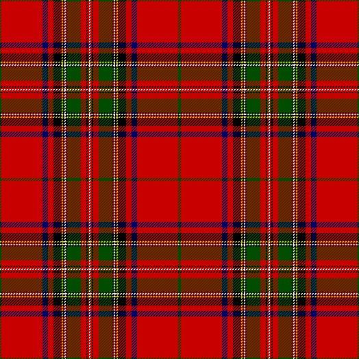 Clan Stewart Tartan as published in the Vestiarium Scoticum, Scotland