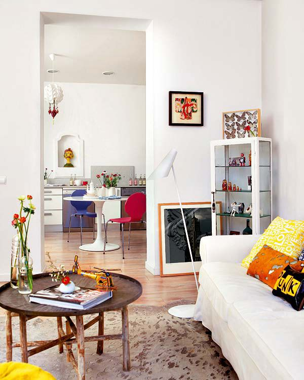 colorful apartment in Madrid