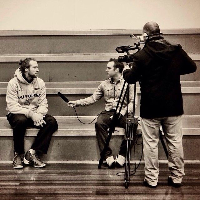 Davin and Ryan chat with Melbourne United's Dave Barlow today among a host of interviews / footage captured as part of our ongoing work with Basketball Victoria. Photo credit to: @melbunited