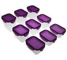 Lock & Lock 9-Piece Mini Nestable Rectangle Set by Lock & Lock. $18.49. QVC has a hassle-free, 30-day Return Policy. See site for details.. These containers may be mini, but they pack a big organizational punch. Perfect for storing snacks and other small nibbles, they nest when not in use to take up less space in your cabinet. From Lock & Lock.