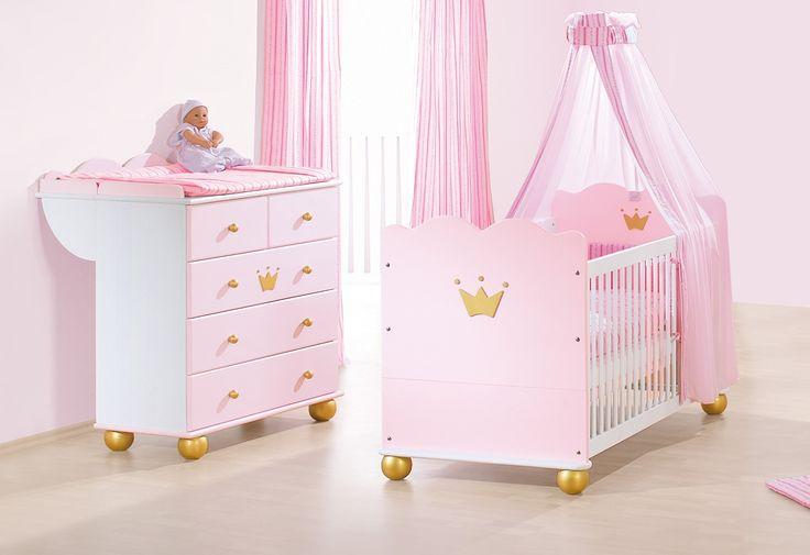 Prinsessan Karolin startkit - Spjälsäng/ & skötbord från Pinolino hos ConfidentLiving.se