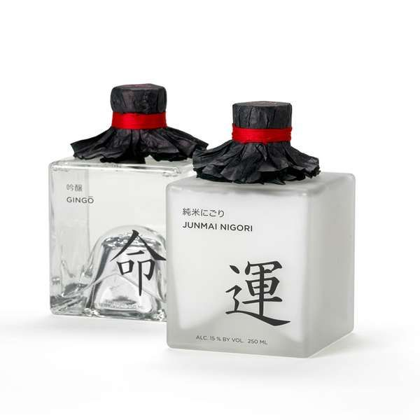Sensual Sake Branding  I find this quite beautiful packaging.