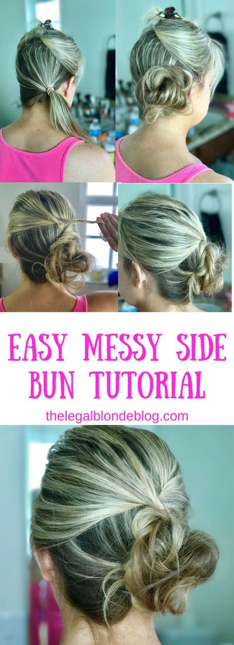 Easy messy side bun tutorial for medium length to long hair! This is perfect for a wedding, date night, or casual look!