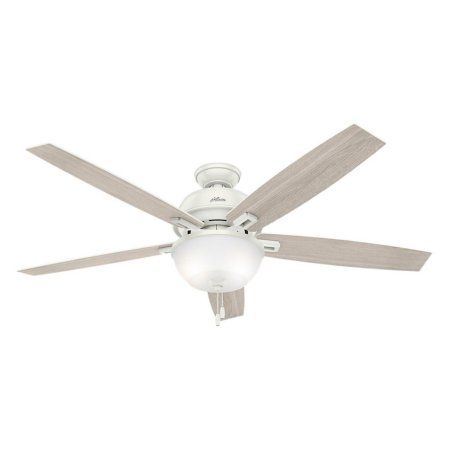Hunter Fans 60 inch Donegan Bowl Light Fresh White Ceiling Fan with Light