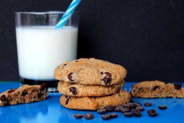 μικρή κουζίνα: Μαλακά μπισκότα με αλεύρι ζέας και σταγόνες σοκολά...