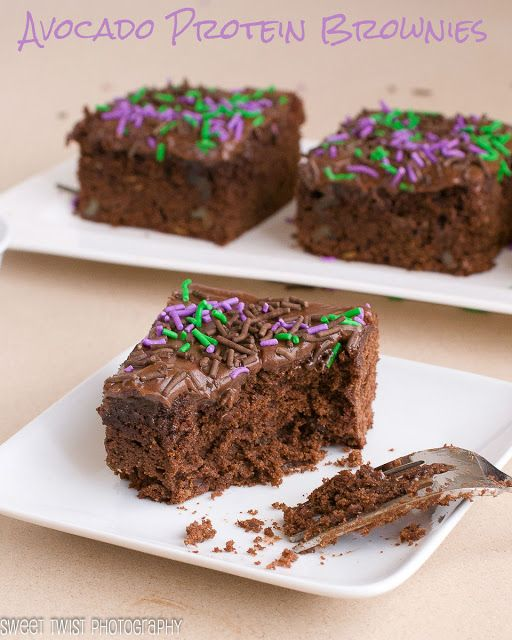 Avocado Protein Brownies : Sweet Twist of Blogging   #brownies #avocado #chocolate #protein