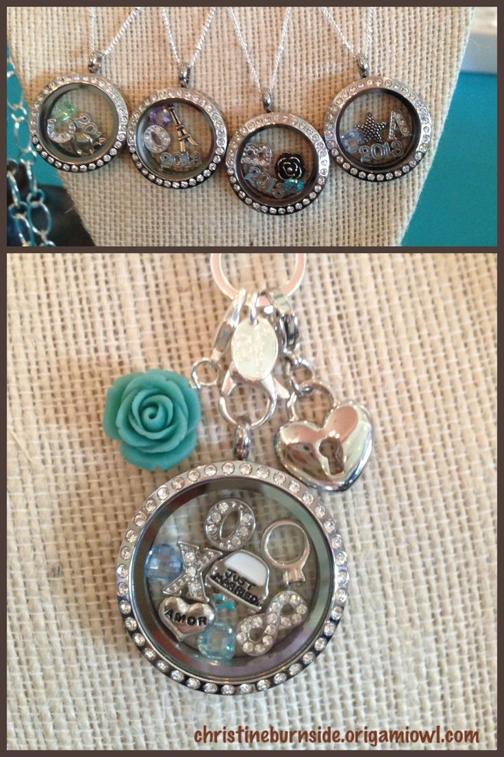 Origami Owl Wedding locket.  Bridal and bridesmaids gift lockets.