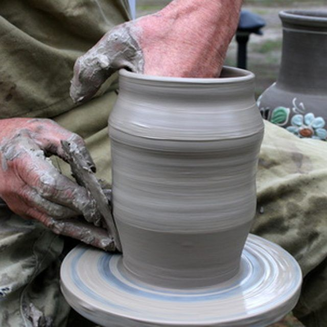 A homemade pottery wheel can work just as well as a purchased one, for far less money.