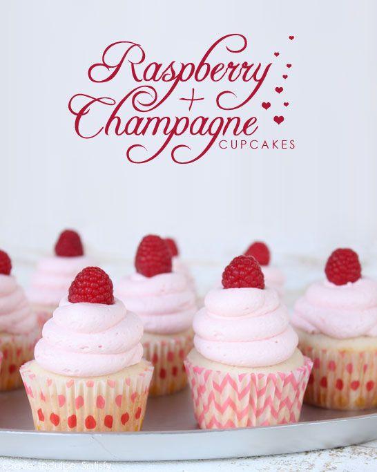 NYE 2014!!  Raspberry Cupcakes by Lauren Kapeluck     TheCakeBlog.com