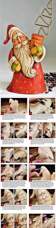 Santa Carving - Wood Carving Patterns and Techniques | WoodArchivist.com
