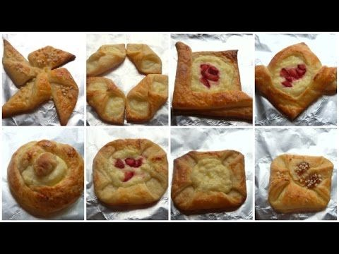 Danish Pastry Shapes - How to Shape Danish Pastries - Fatemahisokay - YouTube