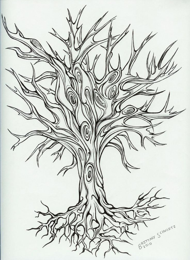 Tree Line Art Design : Free printable designs tree tattoo design by