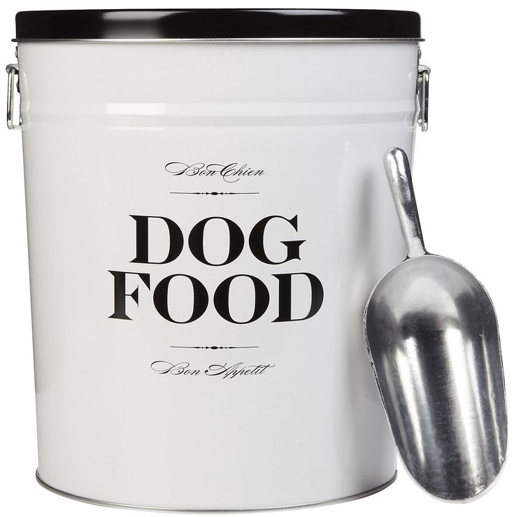 Attractive Dog Food Bin. This would be SO EASY to make!