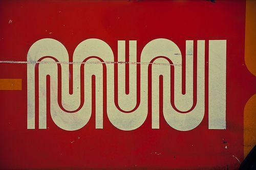 Muni logo. Walter Landor.