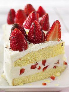 Himmlische Erdbeer-Joghurt-Torte