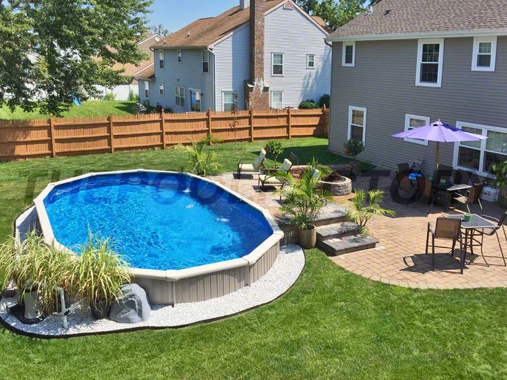 25 Best Ideas About Oval Pool On Pinterest Oval Above
