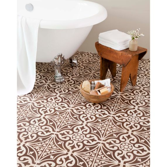 Hammersmith Feature Brown Floor 331X331   bathstore