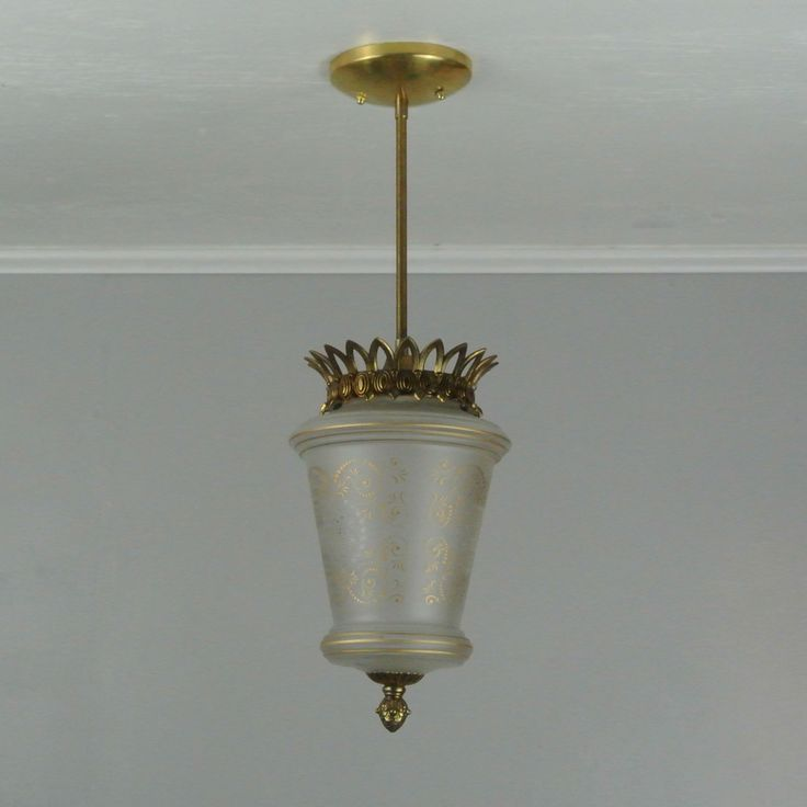 Victorian Modern Brass Pendant Light