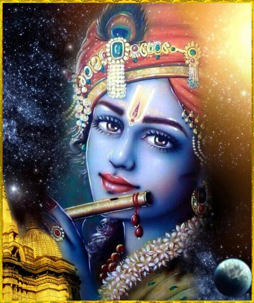 """☀ SHRI KRISHNA ☀ Artist: Mahendra Dubey """"O Krishna, always remembering the nectarous, low, soft sounds of Your flute, as well as Your eyes, doubly expanded with mercy, I pray that wherever my sight shall wander, You will always manifest Your beauty,..."""