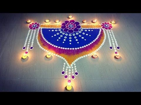 Easy Border Rangoli design - YouTube