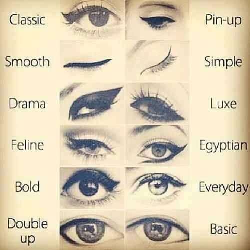 different eyemakeup eyeliner☺️