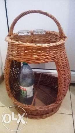 Корзина- бар для бутылок и стаканов, переносная, напольная Черновцы - изображение 1
