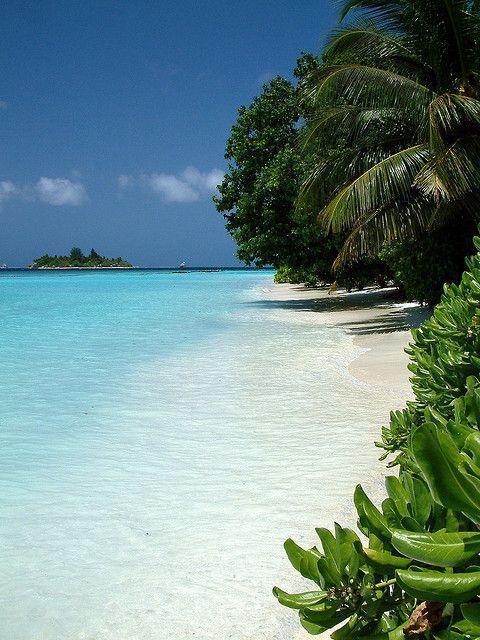 Vakarufalhi, Maldives, Indian Ocean. Mooi helderblauw water 08/06/2017