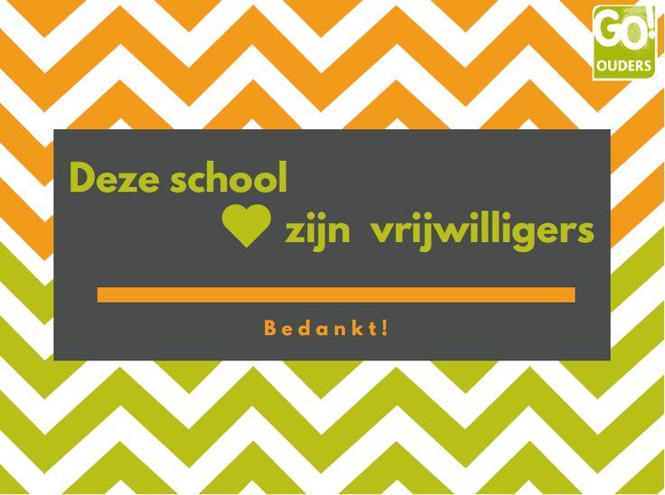 Bedank je vrijwilligers op school | Go-ouders