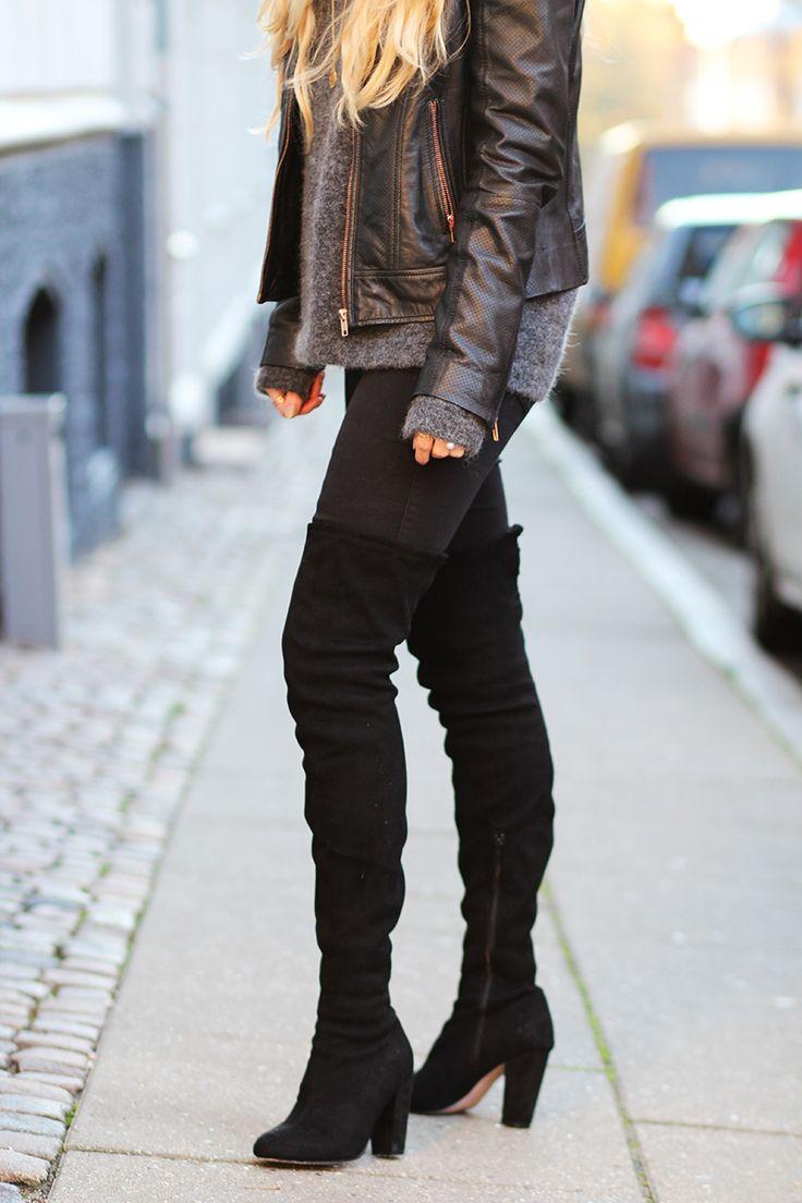oversize strik lange støvler Asos sorte over the knee boots Amy Dyrholm  Julekalender 2015 blog Inwear