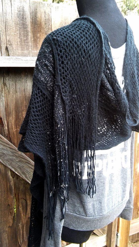 black fishnet wrap shawl witchy goth Stevie Nicks style #Unbranded #ShawlWrap