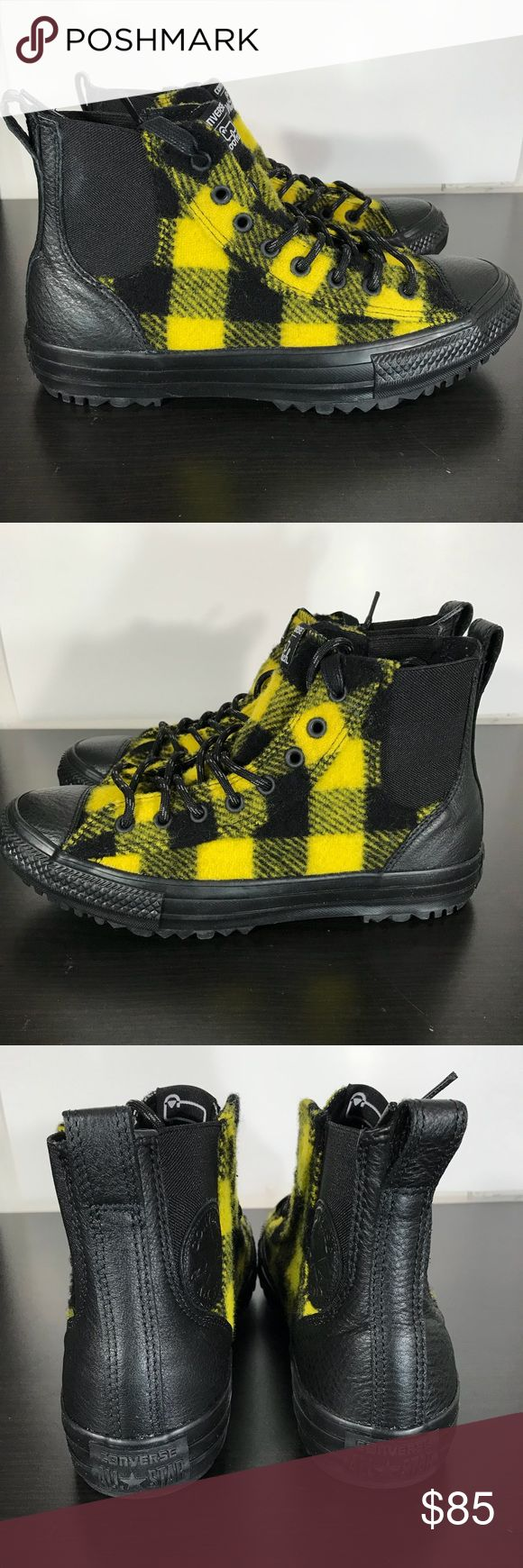 Converse x Woolrich Women 8.5 Black/Yellow 553385C Hello Everybody!! 