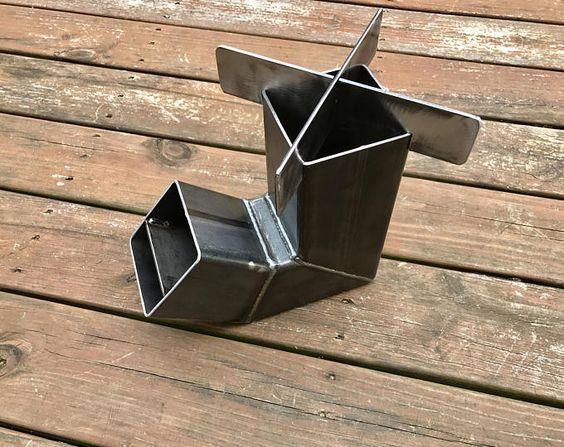 Zelf voeden Rocket kachel met verwisselbare Top / Camping kachel / hout kachel / Emergency kachel / Survival / draagbare