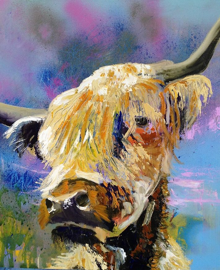WIP, newest commission painting for a client with his own Coos- he sent me photos to work from. This shows the beginning process laying first tones and colours onto spray painted background.