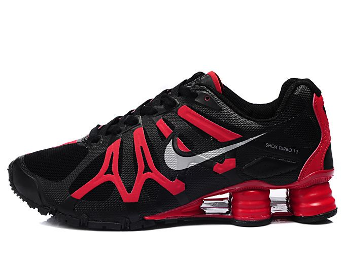 5ef16e613a3 ... Mens Nike Shox Turbo + 13 Running Shoes Black Red.jpg ...