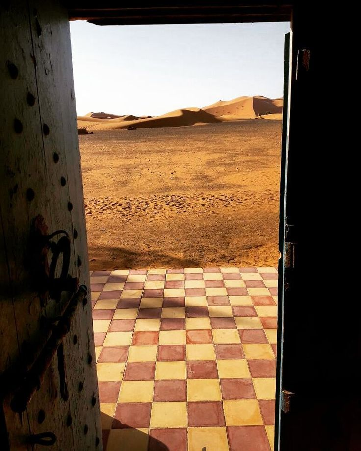 How to be amazed in the Sahara...just open the door and see the magic.  http://www.morocco-objectif.com/  #moroccoobjectif #sahara #desert #merzouga #ergchebbi #sandunes #nomad #berber #amazigh #tuareg #africa #cameltrek #travel #traveler #culture #people #world #morocco #marruecos #marocco #marrocos #marokko #passport #travelgram  Sahara desert tours  Morocco desert tours  Trips from Marrakech