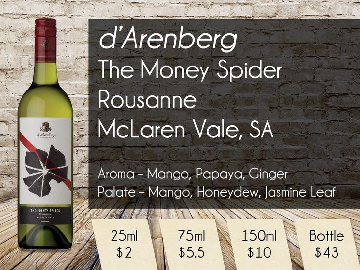 d'Arenberg 'The Money Spider' Rousanne McLaren Vale