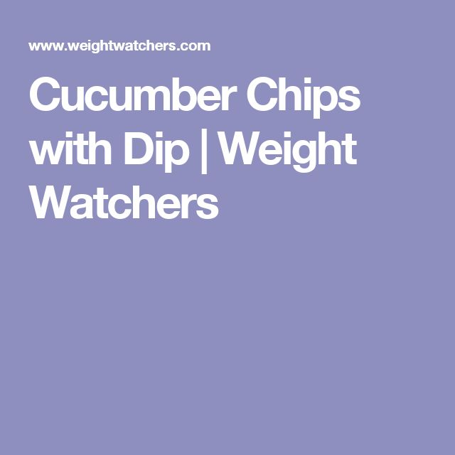 Cucumber Chips with Dip   Weight Watchers