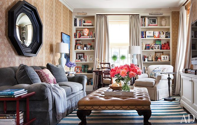 Library/Den/OfficeDecor, Ali Wentworth, Cozy Room, Living Rooms, Ny Apartments, Livingroom, New York Apartments, House, Families Room