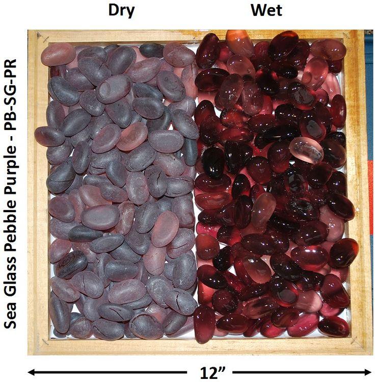 Sea Glass Pebble Purple